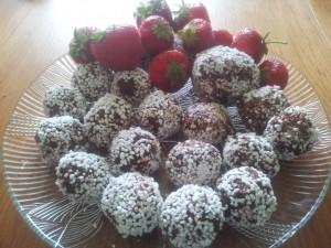 Joars chokladbollar med smak av nötter och apelsin
