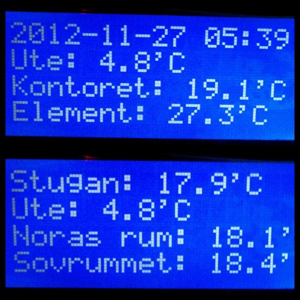 LCD Display i 1wirenätverket