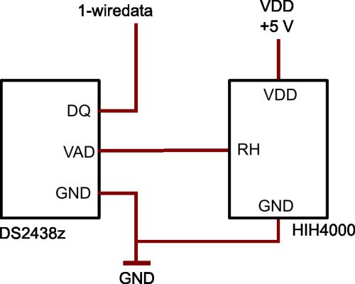 DS2438z - Fuktsensor