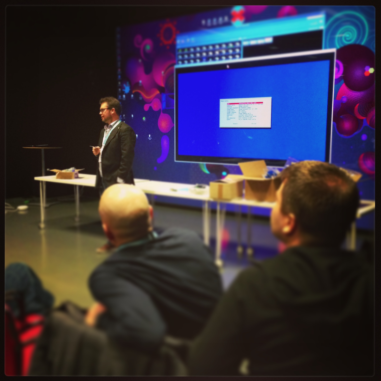 Per Olof Arnäs pratar Raspberry Pi på Webcoast