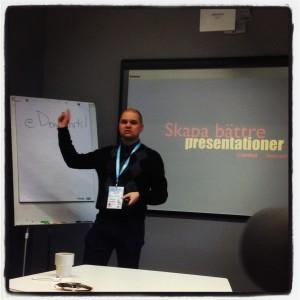 Christian håller föredrag på Webcoast