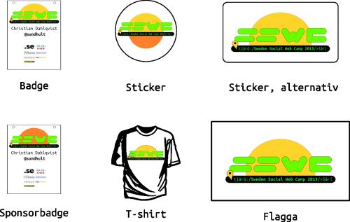 Exempel på hur SSWC-loggan 2013 kan användas