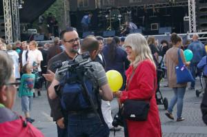 Accent direkt redaktionen under Borås kongressen (Pierre Andersson, Christian Dahlqvist och Eva Ekeroth). Foto Karl-Erik Hjalmarsson