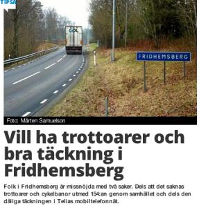 HN hade en artikel om namnlistor i Fridhemsberg.