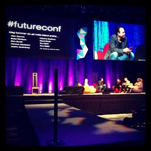 #futureconf var ett härligt koncept där jag fick lyssna på bra samtal.