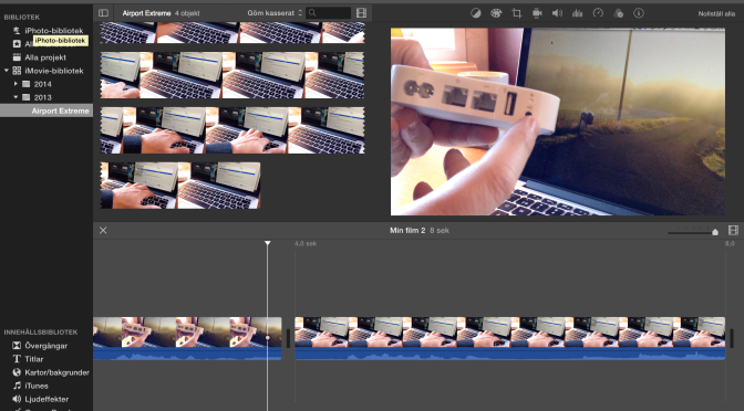 Redigera film snabbare i iMovie