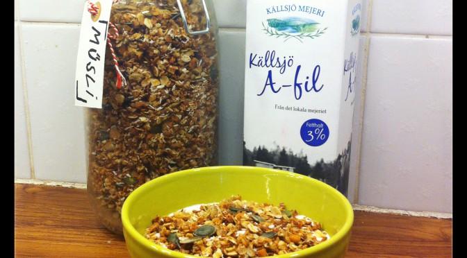 Gör en god frukost med ugnsrostad müsli