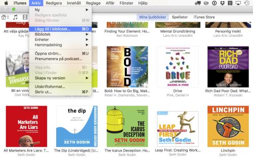Importera Ljudboken som MP3 fil till iTunes