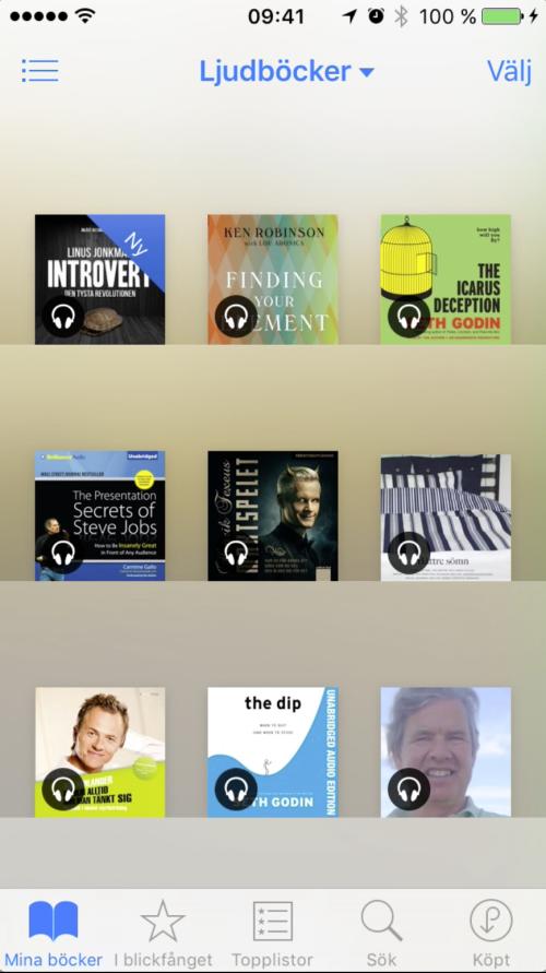 Nu finns ljudboken på din iPhone i appen iBooks