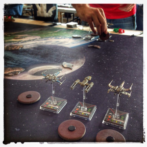 Min första tävlingsmatch i X-wing Miniatures Game