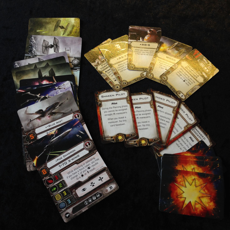 X-Wing - Olika typer av kort