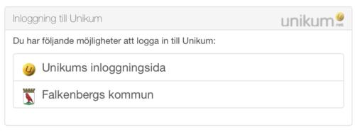 Inloggning Unikum