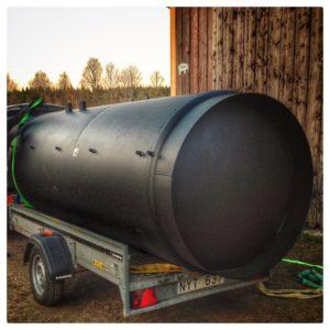 Pannbyte - Leverans av 5000 liters ackumulatortank från Husqvarnatanken
