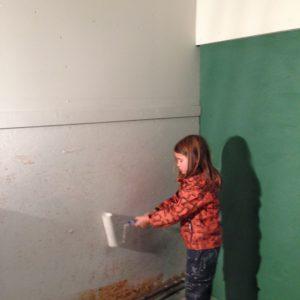 Pannbyte - Målning av pannrum med fondvägg