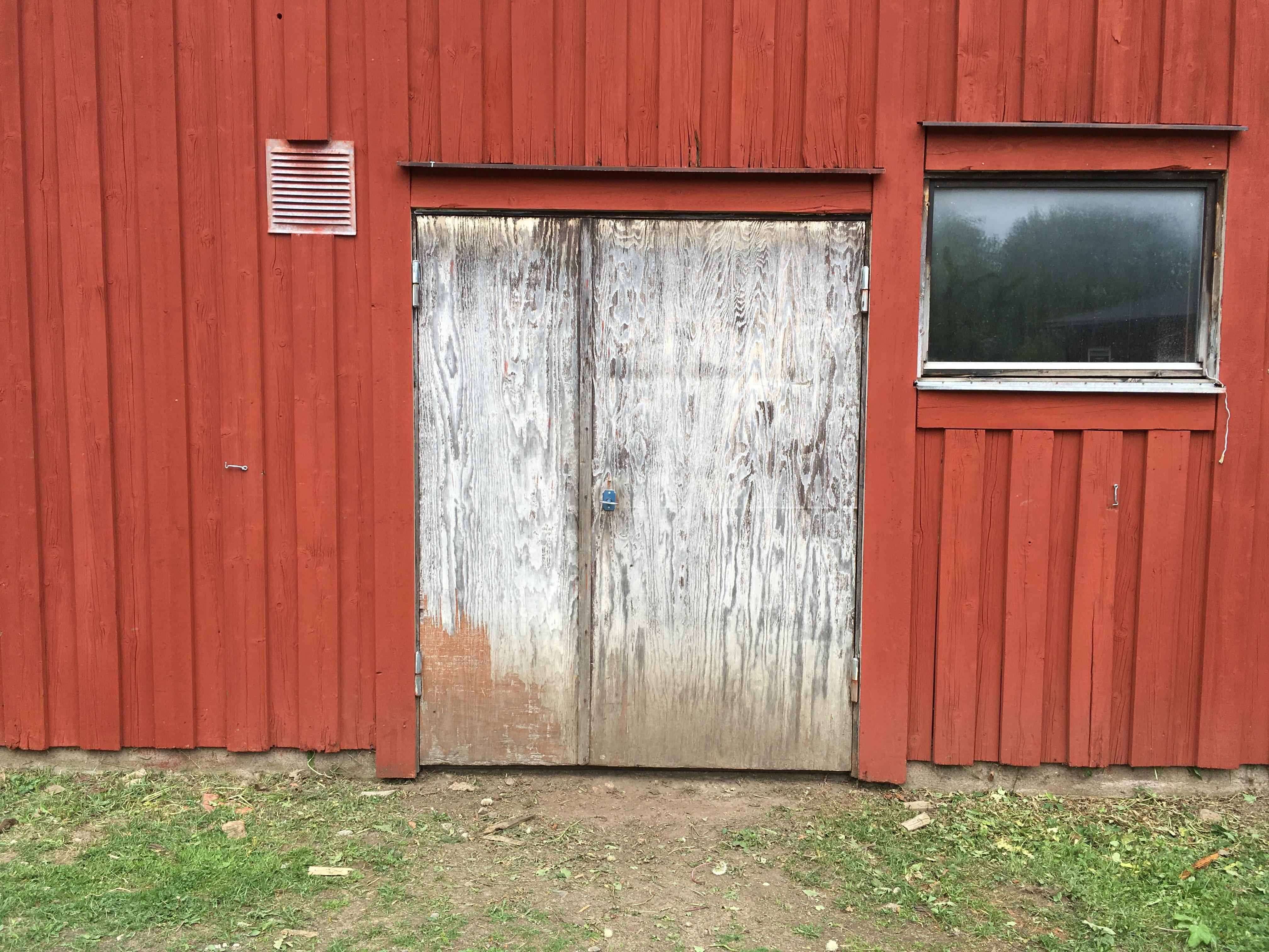 Pannbyte - Pannrumsdörrar innan målning