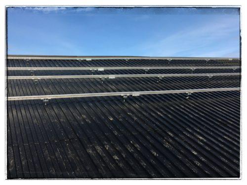 Schletter montagesystem för solceller i Sundhult