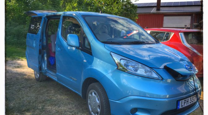 Från Dalarna till Sundhult i en Nissan e-NV200 elbil