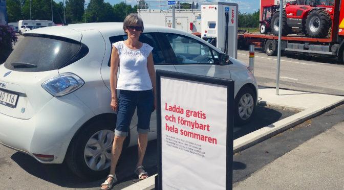 Vi åkte elbil från Örebro till Öppet hus i Sundhult