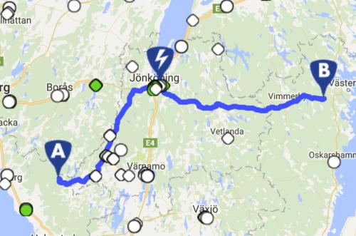 eGoTrip - Gunnarp - Ankarsrum - Karta