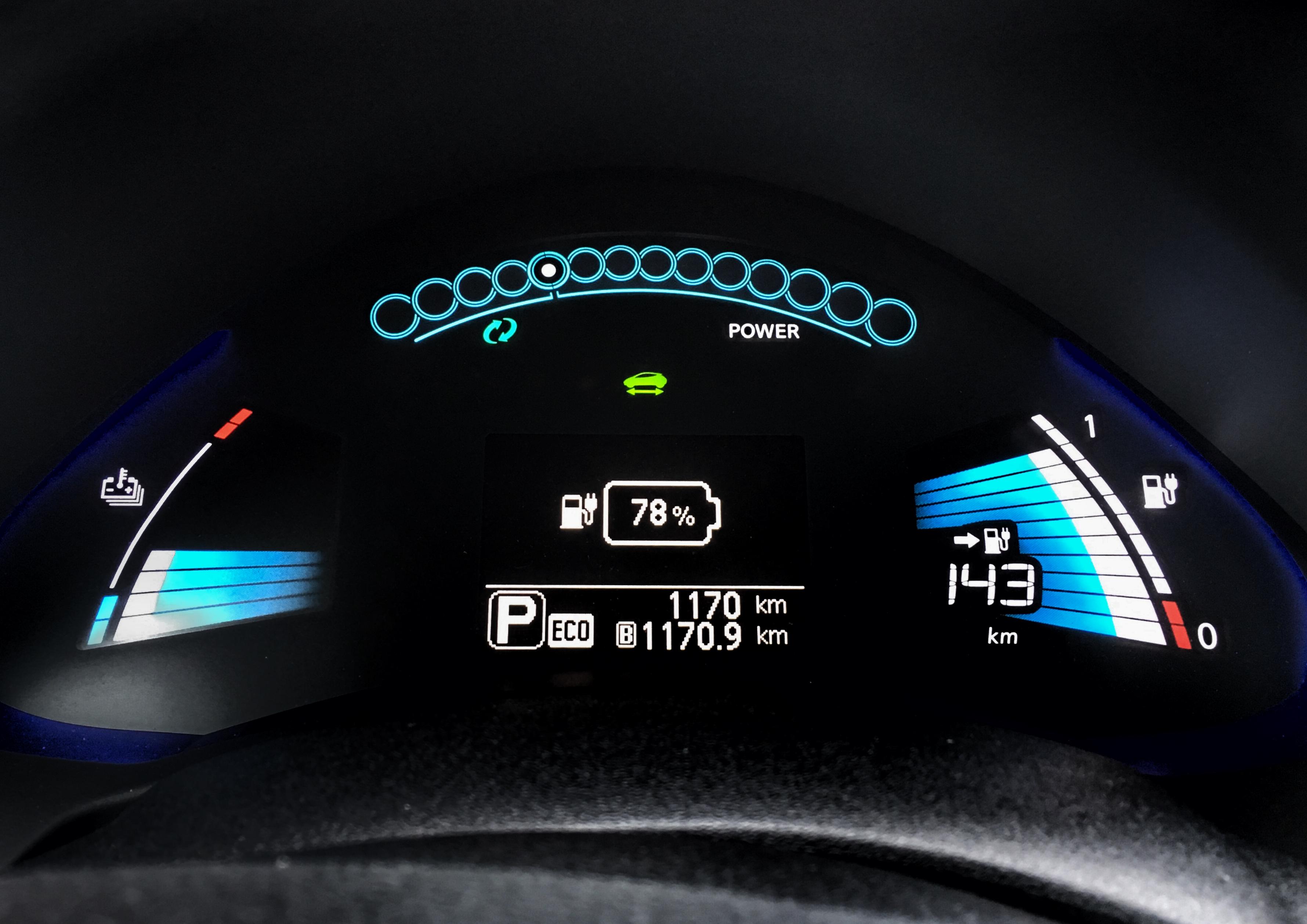 """Procent i jämförelse med Nissan Leaf """"guessometer"""""""