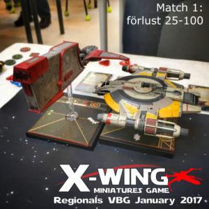 X-Wing Regionals january 2017 - match 1