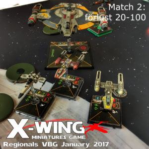 X-Wing Regionals january 2017 - match 2