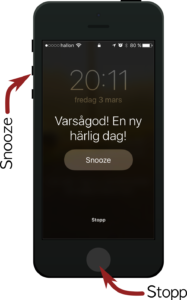 Alarm på en iPhone
