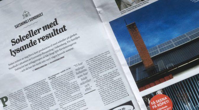 Sundhults solceller i Hallands Nyheter