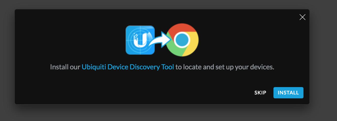 UniFi CloudKey - Installera tillägg för att hitta CloudKey