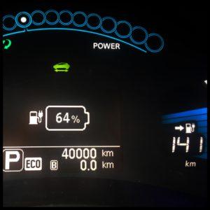 Vår Nissan Leaf 30 kWh har rullat över 4000 mil