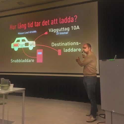 Christian föreläser om elbilen
