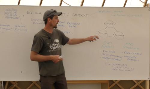 Richard Perkins från Ridgedale Permaculture håller onlinekurs