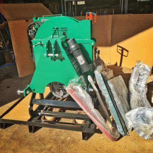 Woodland Mills WC88 - Flishuggen behöver lite montage innan den kan användas