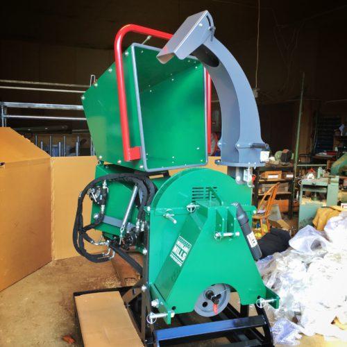 Woodland Mills WC88 - Flishuggen ihopfälld för att vara kompakt vid förflyttning och förvaring
