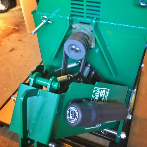 Woodland Mills WC88 - Remdriften från kraftöverföringsaxeln till svänghjulet