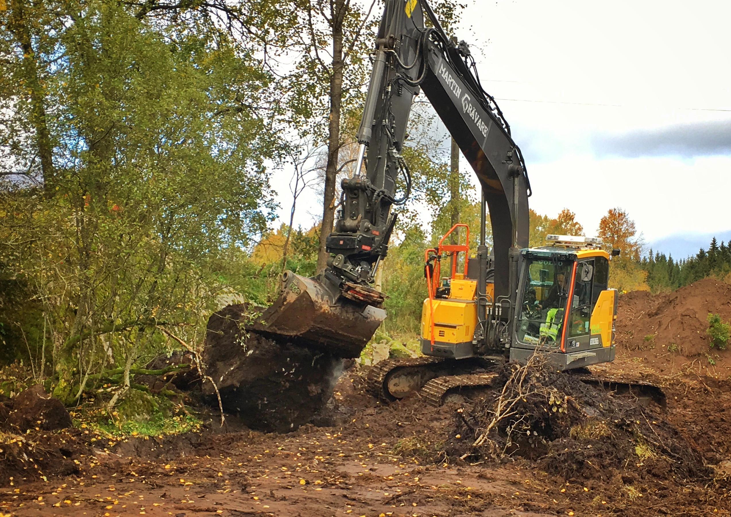 En stor stenbumling tas bort från nya delen av Broaker