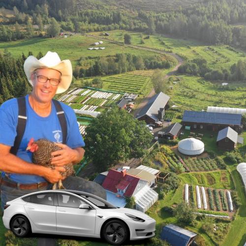 Vi kommer åka Tesla till Ridgedale för att gå en masterclass med Joel Salatin