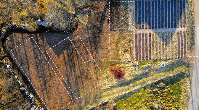 Broaker - Översikt med utmätta odlingsbäddar