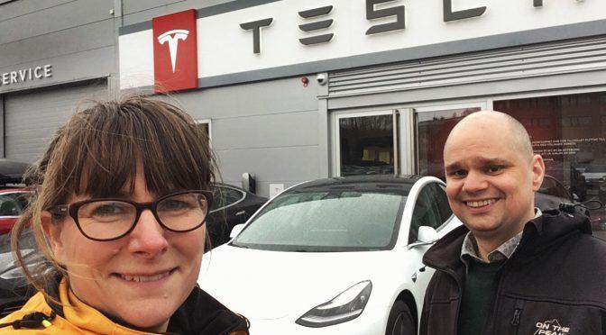 Nu har vi hämtat vår Tesla Model 3 LR AWD