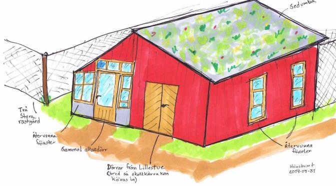 Vår idé om hur hönshus/växthus kan se ut.
