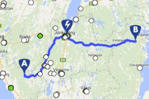 Hur planerar jag min resa med elbil?