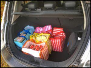Får det plats något i bagaget på en Nissan Leaf