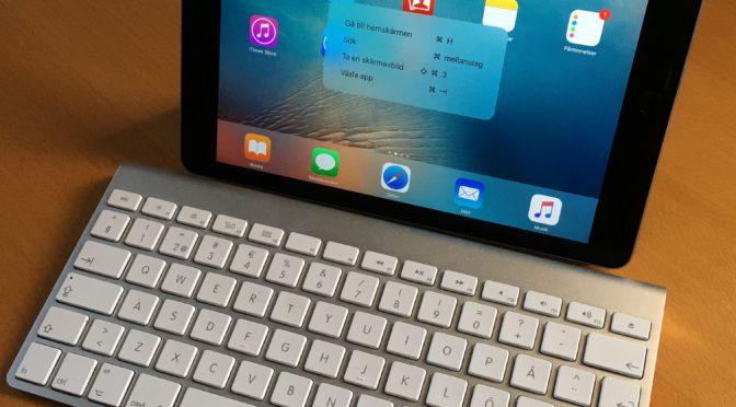 Använd tangentbord smartare till din iPad