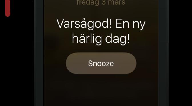 Stäng av eller snooza alarm i iPhone enklare