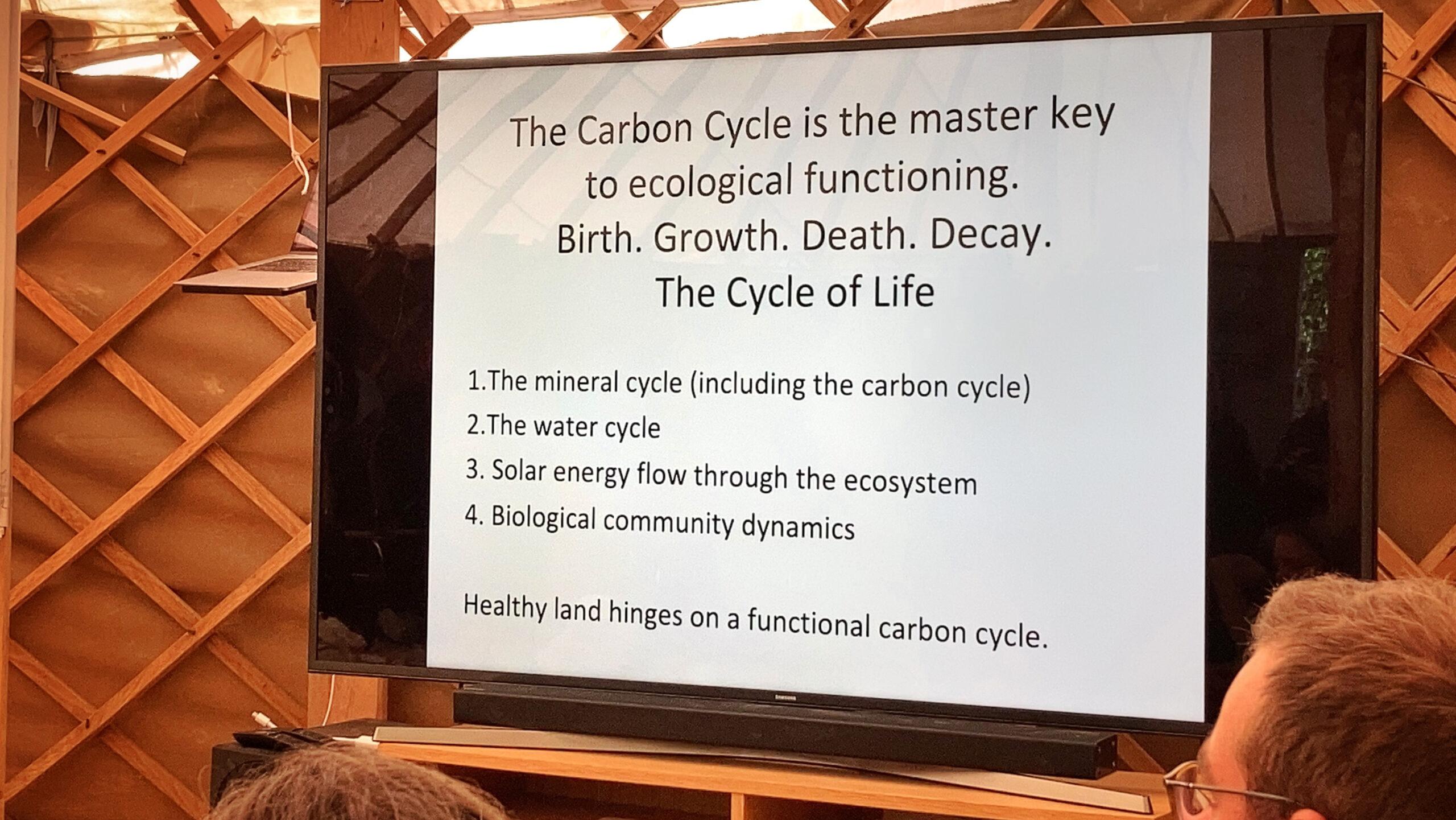 Kolcykeln är en nyckel för det ekologiska systemet