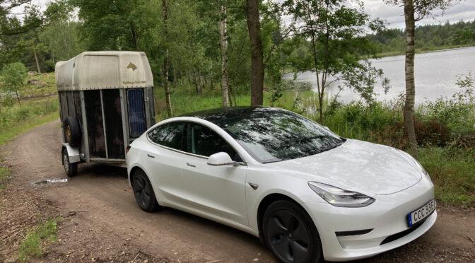 Köra släp med en Tesla Model 3 LR AWD 2020