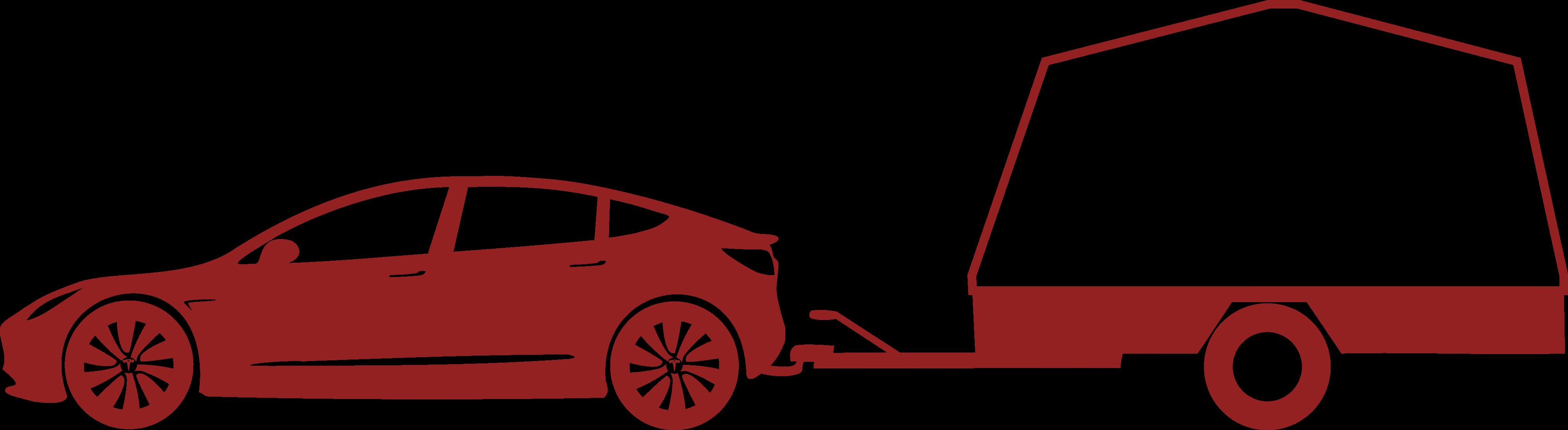 Tesla Model 3 med släp